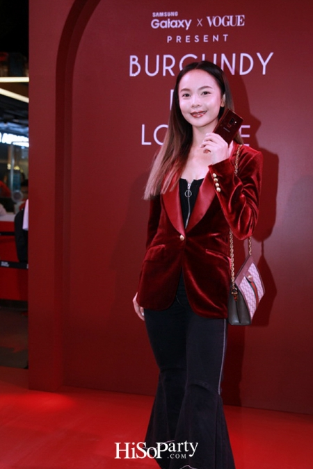 Samsung X Vogue Present Burgundy Red Lounge in Partnership with Absolute Siam