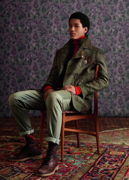 ETRO Menswear Collection Autumn Winter 2018/19 'Dandy Detour'