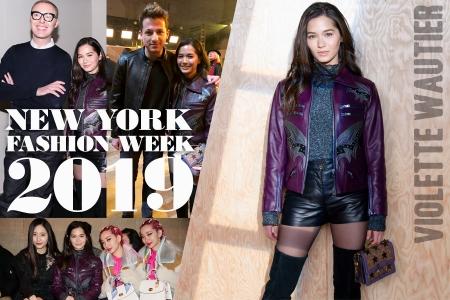 'วี วิโอเลต' ประชันลุคแฟชั่นกับคนดังระดับโลกในงาน 'New York Fashion Week 2019'